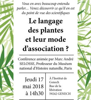 Conférence : le langage des plantes et leur mode d'association ?