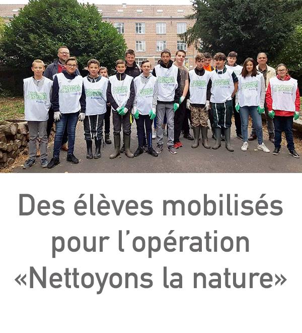 Nettoyons la Nature